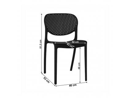 Stolička, čierna, FEDRA NEW