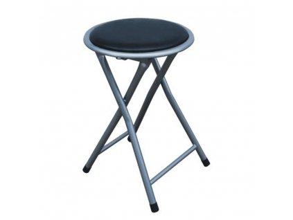 Skladací taburet/stolička, čierna, IRMA