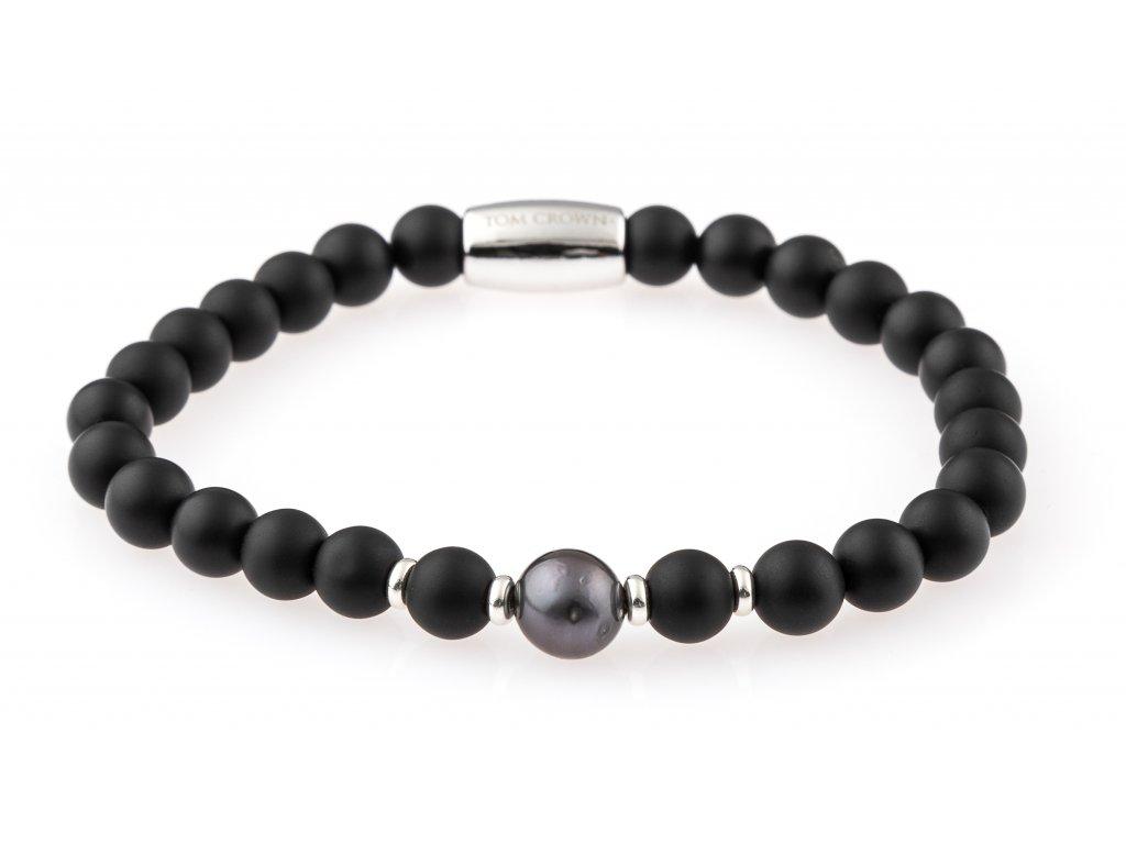 Dámský náramek Black Tahiti Pearl matte