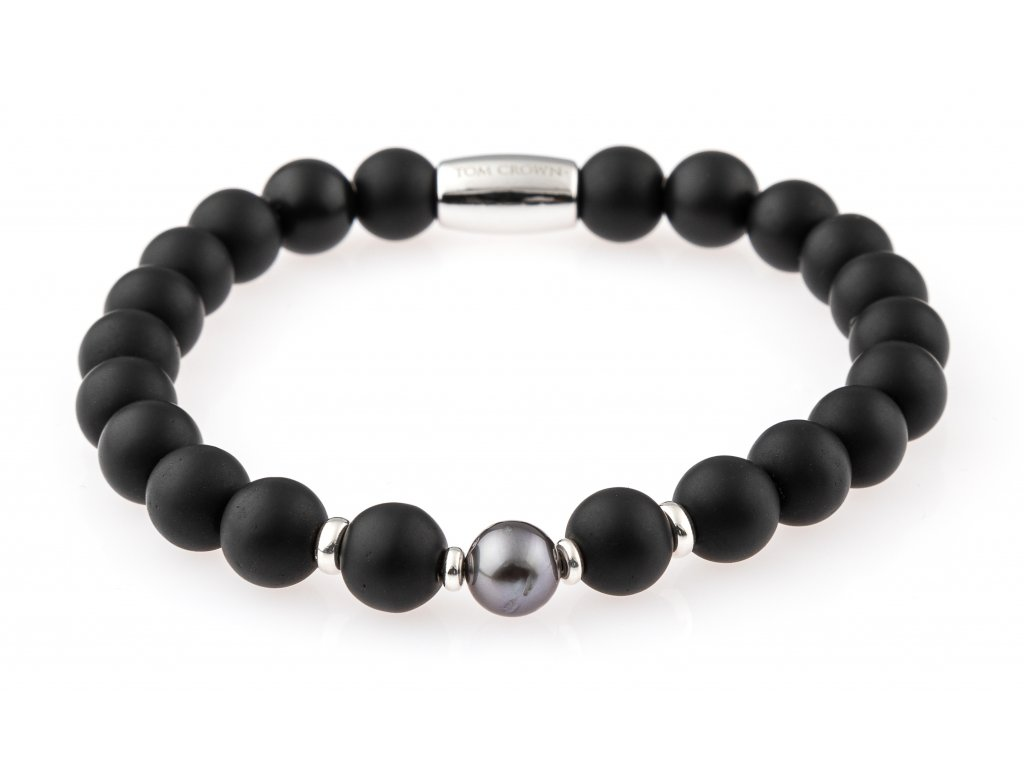 Pánský náramek Black Tahiti Pearl matte