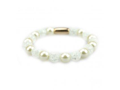 Béžové perly a práskaný křišťál