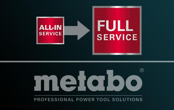 FULL SERVICE záruka Metabo