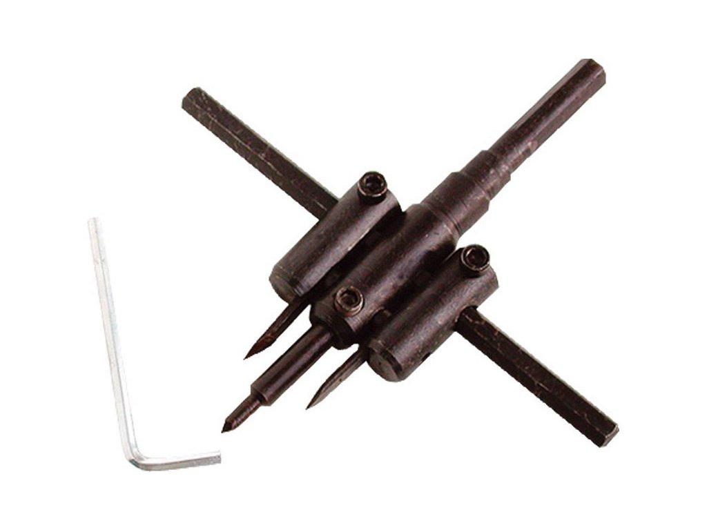 vrták nastavitelný vykružovací do dřeva s 2břity, ∅30-120mm, EXTOL CRAFT
