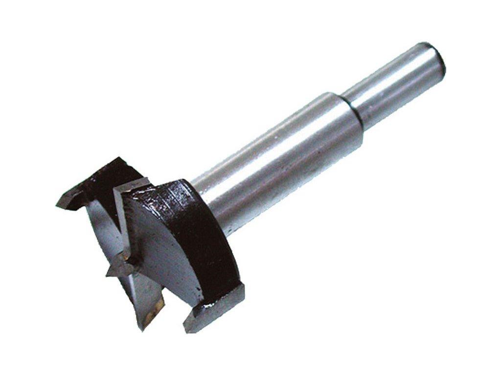 fréza čelní-sukovník, do dřeva s SK plátky, ∅35mm, stopka 10mm, použitelné pro zadlabávání pantů, SK, EXTOL CRAFT