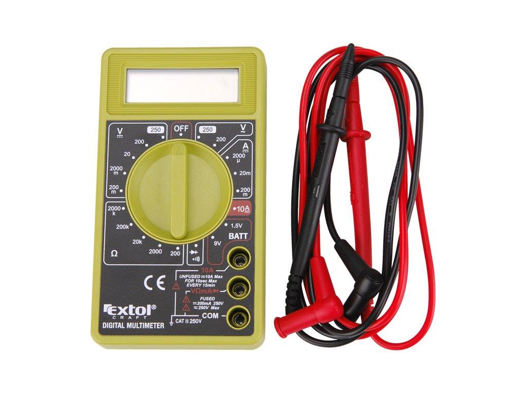 multimetr digitální (U, I, R), s akustickou signalizací, EXTOL CRAFT