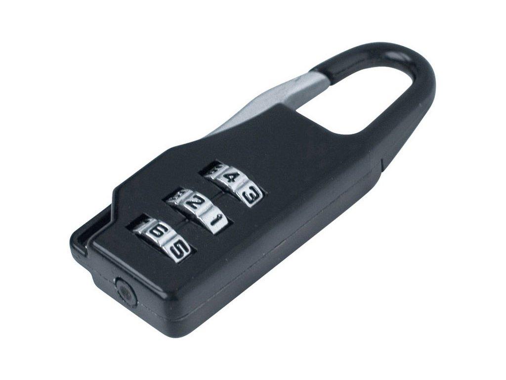 zámek kombinační s trojmístným kódem, 21,5x60mm, tloušťka závěsného oka 3,5mm, možnost změny číselného kódu, 1000 kombinací, EXTOL CRAFT