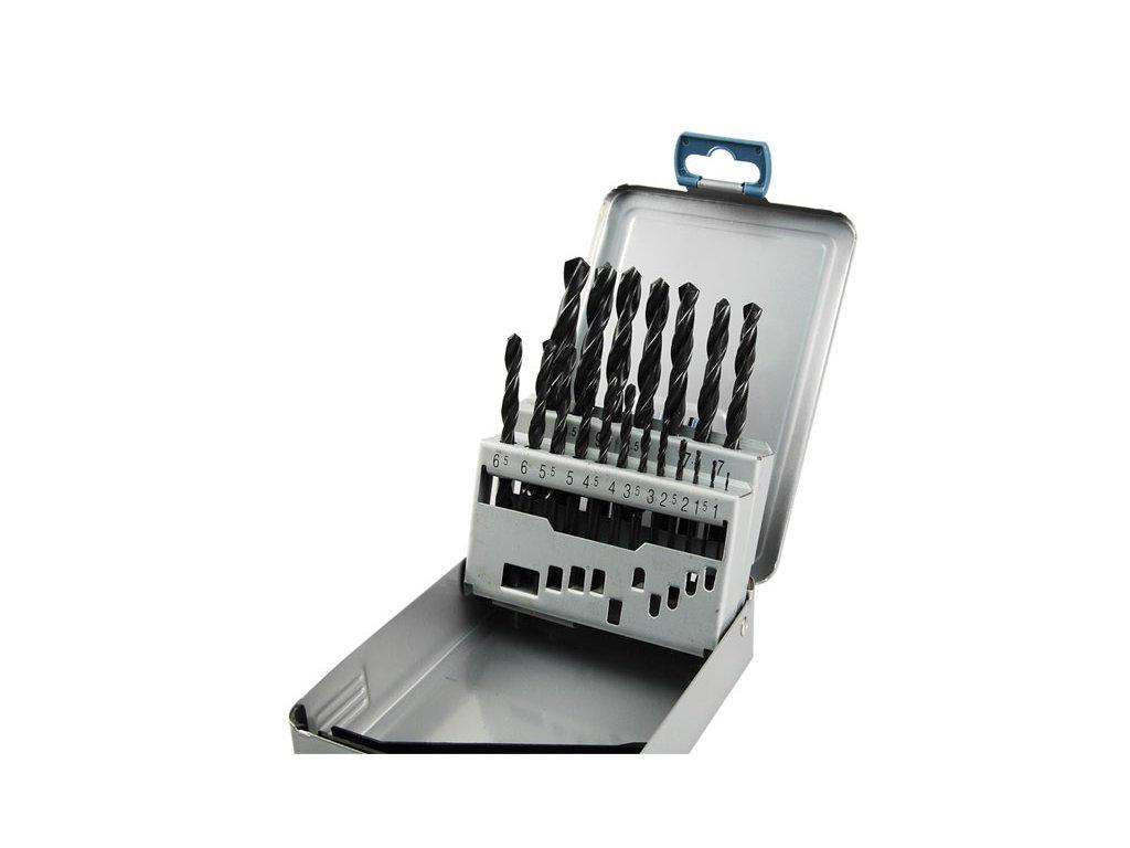 vrtáky do kovu v kovové krabičce, sada 19ks, ∅1-10mm, po 0,5mm, HSS, EXTOL PREMIUM