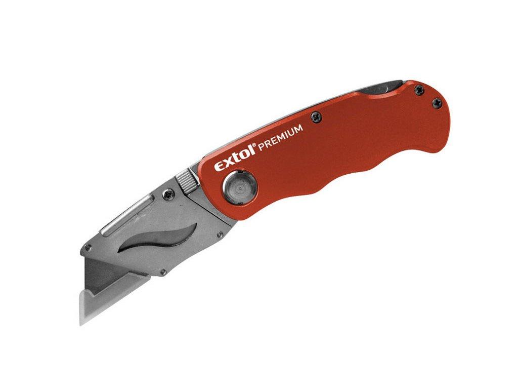 nůž zavírací s výměnným břitem, 19 mm, 5ks náhradních břitů, EXTOL PREMIUM