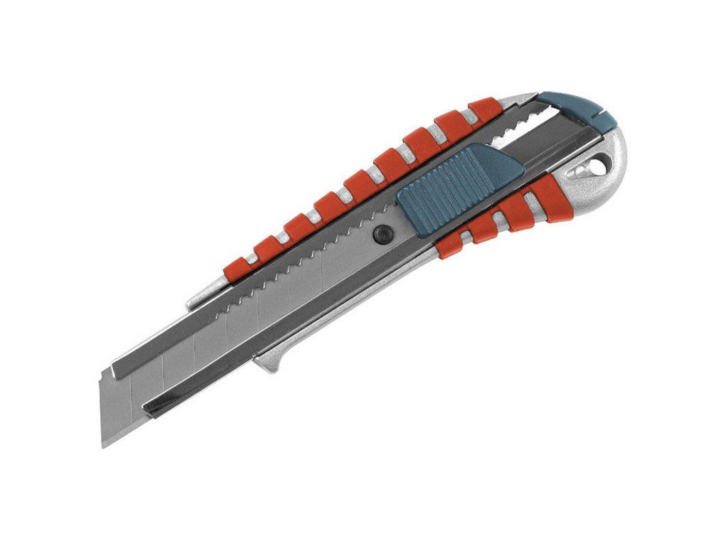 nůž ulamovací kovový s kovovou výztuhou, 18mm, EXTOL PREMIUM