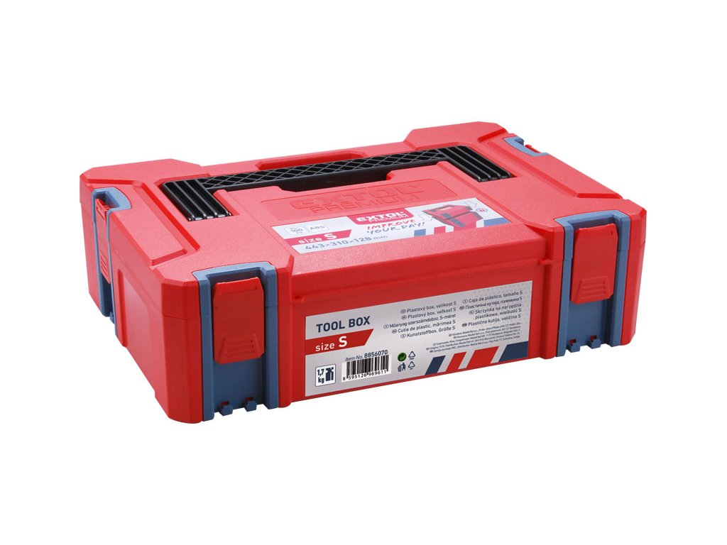 EXTOL PREMIUM - box plastový velikost S 443x310x128mm