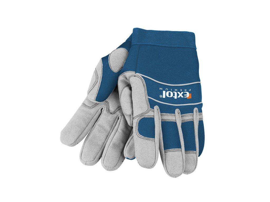 """rukavice pracovní polstrované, XL/11"""", velikost XL/11"""", EXTOL PREMIUM"""