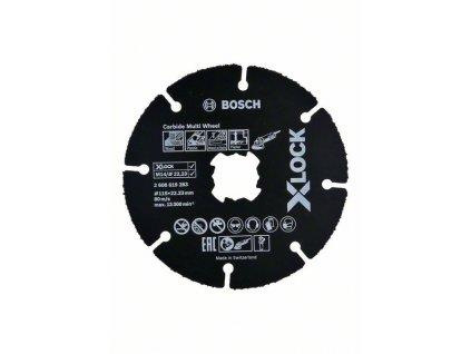 Víceúčelový řezný kotouč - Bosch Carbide Multi Wheel systému X-LOCK 115x1 mm