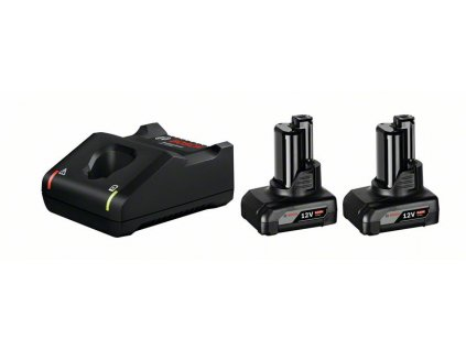 Startovací sada - Bosch 2× GBA 12V 6.0Ah + GAL 12V-40