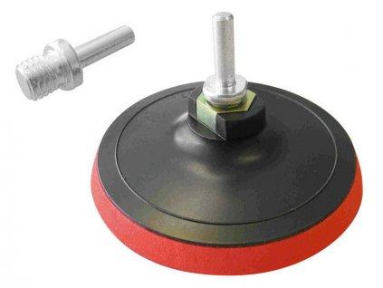 nosič brusných výseků - M14, suchý zip s redukcí úchytu do vrtačky, ∅125mm, stopka redukce 8mm, EXTOL CRAFT
