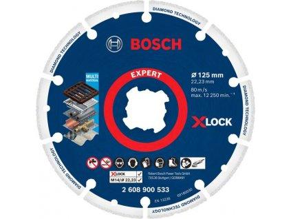Diamantový kotouč na kov - Bosch X-LOCK 125 mm