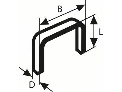 Sponky do sponkovačky z tenkého drátu - Bosch typ 53 11,4 x 0,74 x 14 mm