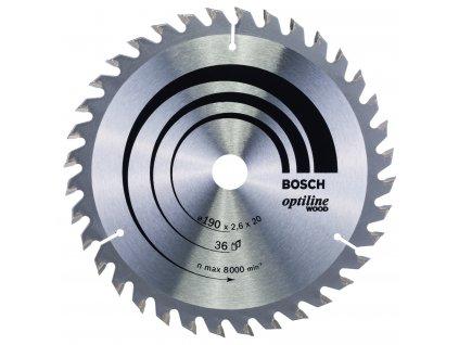 Pilový kotouč - Bosch Optiline Wood 190 x 20/16 x 2,6 mm/24 z.