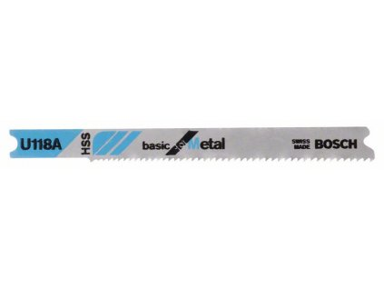Pilový plátek do přímočaré pily - Bosch U 118 A Basic for Metal