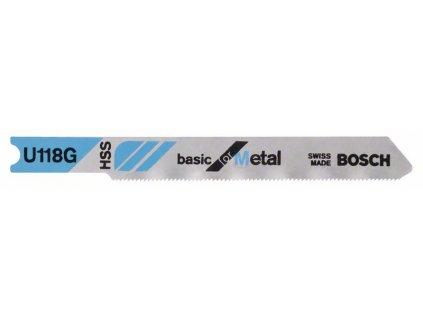Pilový plátek do přímočaré pily - Bosch U 118 G Basic for Metal