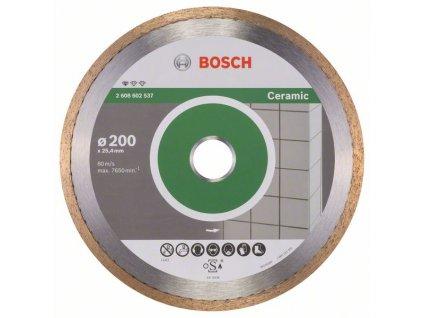 Diamantový dělicí kotouč - Bosch Standard for Ceramic 200 x 25,40 x 1,6 x 7 mm
