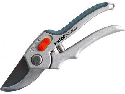 nůžky zahradnické, 215mm, na stříhání větví a rostlin do průměru 20mm, HCS, EXTOL PREMIUM