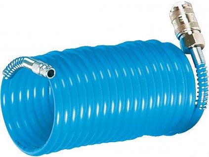 Spirálová PU hadice 10 m, Ø 8 mm, 15 bar