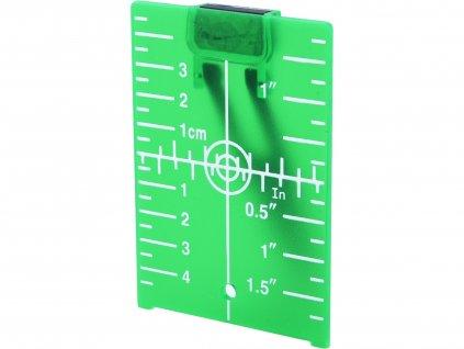 terč pro zvýraznění laser. paprsku, zelený