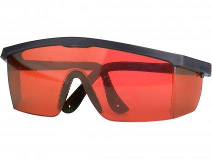 brýle pro zvýraznění laser. paprsku, červené