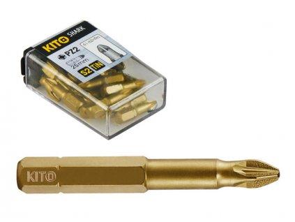 hroty, sada 10ks, PZ 3x50mm, S2/TiN, KITO