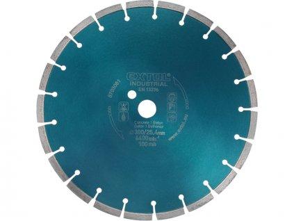 kotouč diamantový řezný segmentový na BETON, 400x25,4mm, suché i mokré řezání, EXTOL INDUSTRIAL  + Dárek dle vlastního výběru