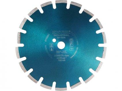 kotouč diamantový řezný segmentový na ASFALT, 400x25,4mm, suché i mokré řezání, EXTOL INDUSTRIAL  + Dárek dle vlastního výběru