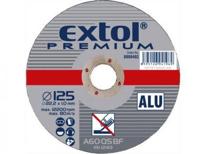 kotouč řezný na hliník, 125x1,0x22,2mm, EXTOL PREMIUM
