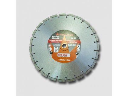 Diamantový kotouč na beton 350x25,4 mm, výška segmentu 10 mm