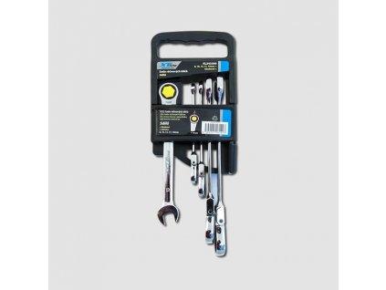 Sada ráčnových klíčů kloubových 8-19mm, 72 zubů