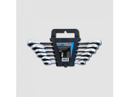 Sada ráčnových klíčů oboustranných 8-19mm, 72 zubů