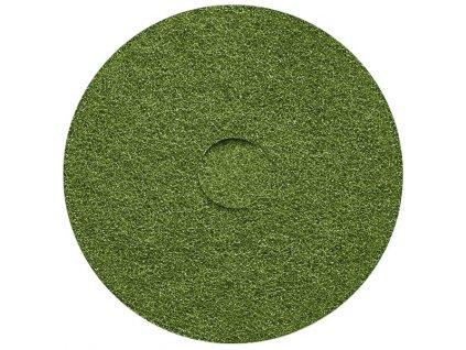 """Abrazivní pad, zelený 17""""/43,2 cm"""