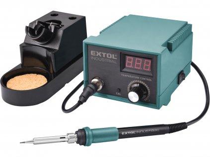 EXTOL INDUSTRIAL - stanice pájecí s LCD a elektronickou regulací teploty a kalibrací