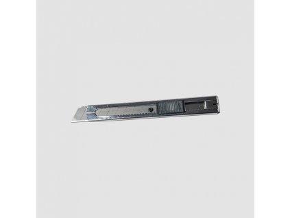 nůž ulamovací celokovový nerez, 18mm, Auto-lock