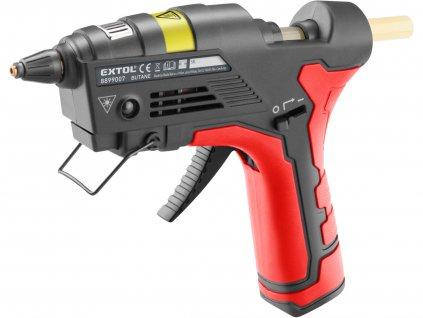 EXTOL PREMIUM - pistole tavná lepící, na plyn do zapalovačů
