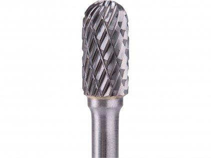 fréza karbidová, válcová s kulovým čelem, pr.10x20mm/stopka 6mm,sek střední(double-cut)