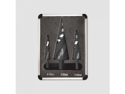 Sada stupňovitých vrtáků do kovu TiN 4-32mm