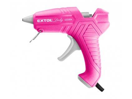 pistole tavná lepící, ⌀11mm, 40W, růžová