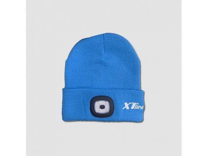 Čepice se svítilnou 3,7V 300 mAH modrá
