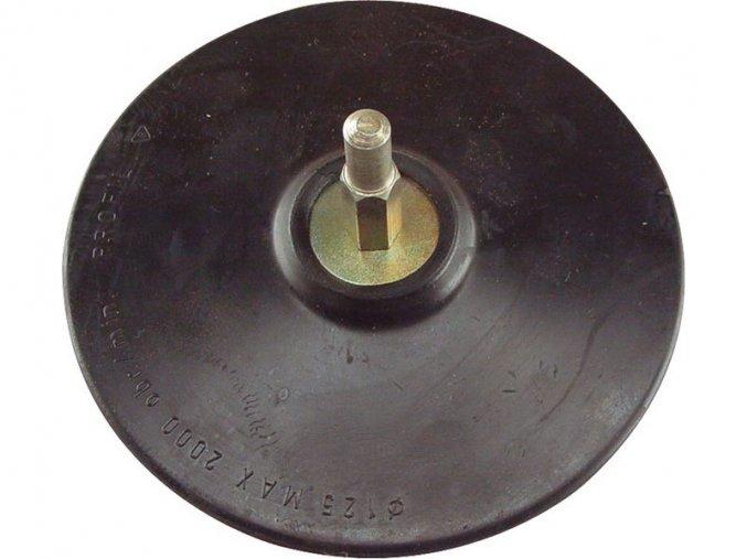 nosič brusných výseků do vrtačky - suchý zip, ∅125mm, stopka 8mm, EXTOL CRAFT