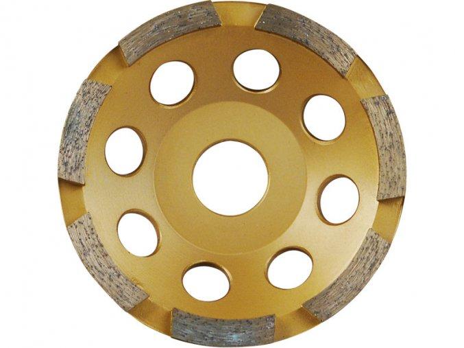 kotouč diamantový brusný jednořadý, 115x22,2mm, výška segmentů 5mm, počet segmentů 8, EXTOL PREMIUM