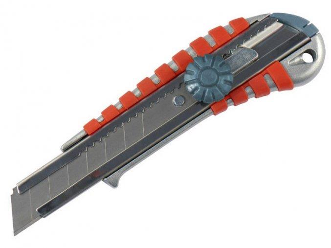 nůž ulamovací kovový s kovovou výztuhou a kolečkem, 18mm, EXTOL PREMIUM