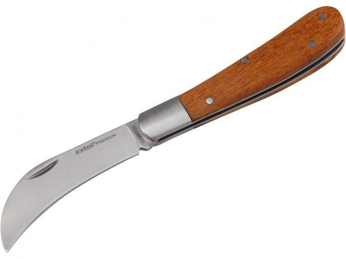 nůž štěpařský zavírací nerez, 170/100mm, délka otevřeného nože 170mm, délka zavřeného nože 100mm, kvalitní dřevěná rukojeť, NEREZ, EXTOL PREMIUM