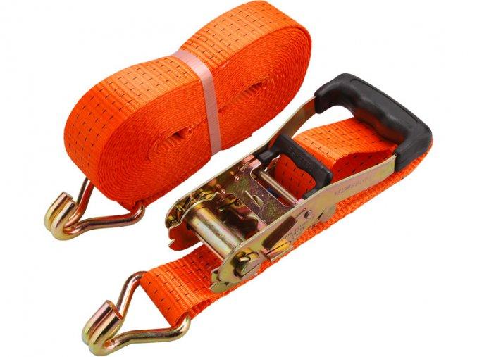 pás upínací ráčnový s háky, 3m x 50mm, max. 4000kg, pevnost pásu: při opásání 4000 daN, v tahu 2000 daN, PES, EXTOL PREMIUM