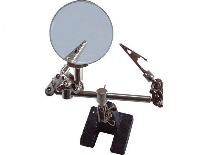 """držák """"třetí ruka"""" s lupou, průměr lupy 60mm, EXTOL CRAFT"""