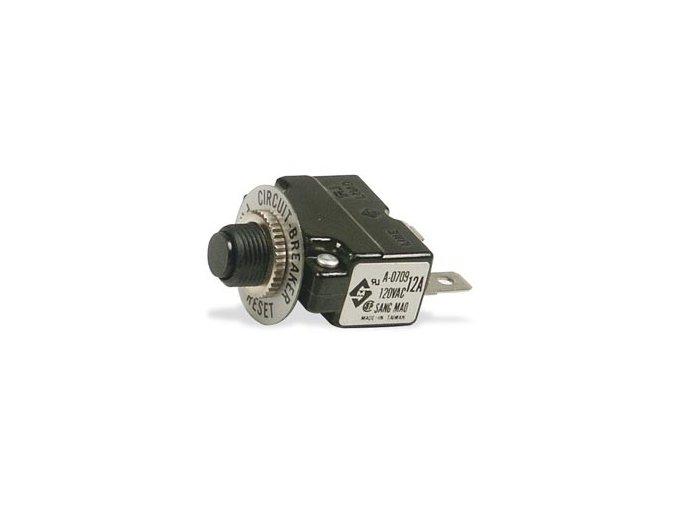 Tepelná pojistka motoru 1-fázová, 12 Amp.